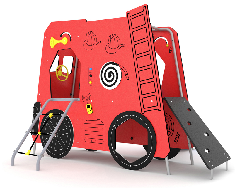 Dambis-Mänguväljaku element-Tuletõrjeauto